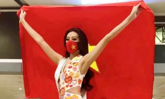Khánh Vân sang Mỹ thi Miss Universe