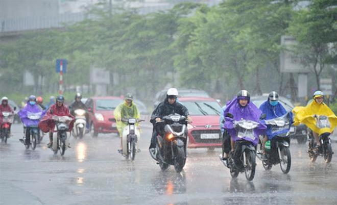 Không khí lạnh tăng cường yếu gây mưa, Bắc Bộ chuyển mát