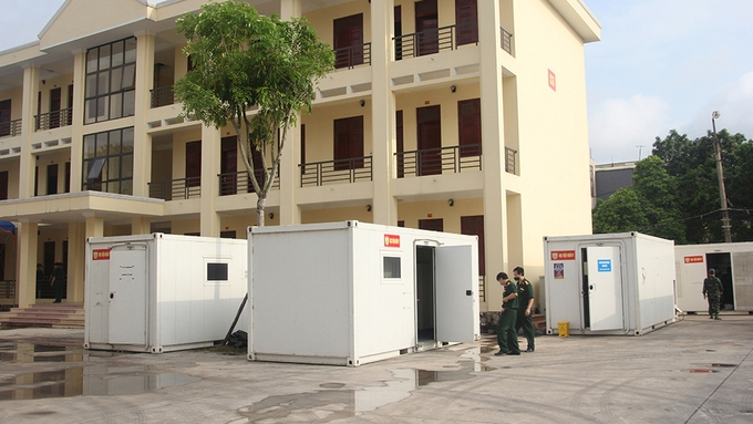 Quân đội lập trung tâm xét nghiệm dã chiến tại Bắc Giang