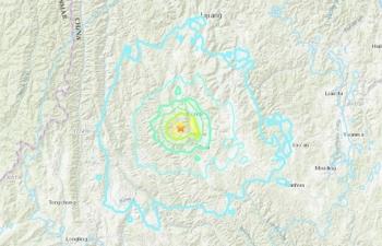 Động đất 5.8 độ richter tại Trung Quốc gây rung chấn ở Hà Nội