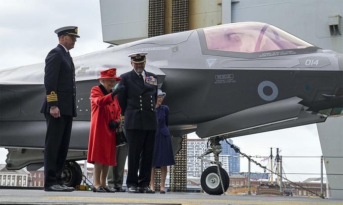Nữ hoàng Anh thăm tàu sân bay sắp tới châu Á