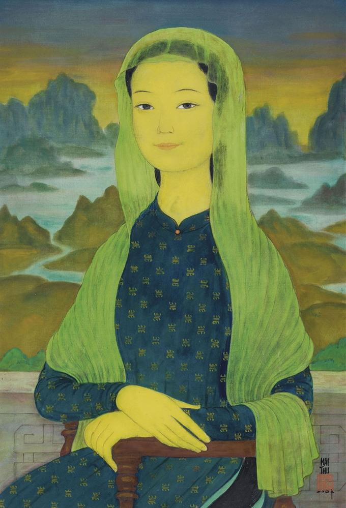 """Tranh """"Thiếu nữ choàng khăn"""" của Lê Phổ có giá 1,1 triệu USD"""
