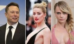 Elon Musk phủ nhận sex tập thể với Amber Heard và Cara Delevingne