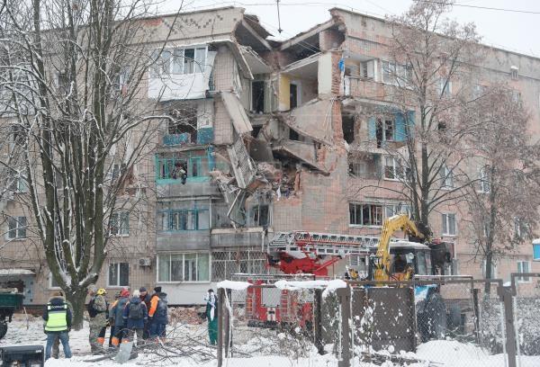 ukraine no khi gas tai mot chung cu o kiev nhieu nguoi bi mac ket