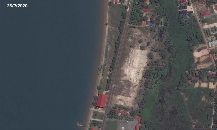 Công trình mới gây hoài nghi tại căn cứ hải quân Campuchia