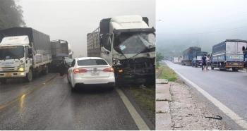 Sơn La: Tai nạn liên hoàn giữa 9 ô tô, quốc lộ 6 ùn tắc