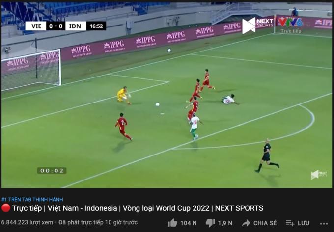 Lượt xem trận Việt Nam - Indonesia áp đảo sự kiện toàn cầu của Apple