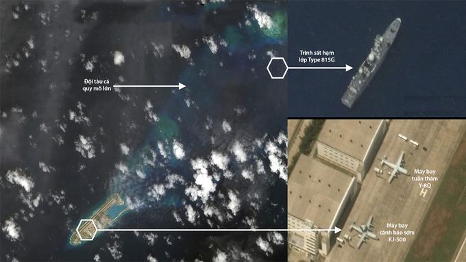 Trung Quốc đưa trái phép tàu, máy bay trinh sát tới Trường Sa