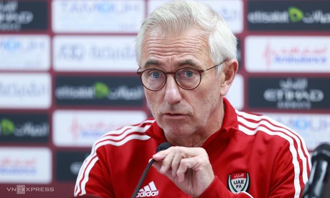 "Van Marwijk: ""UAE giờ mạnh nhiều so với khi thua Việt Nam"""
