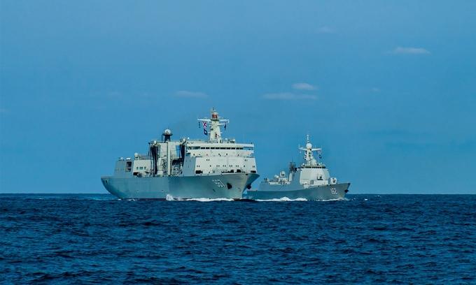 Tàu tên lửa Trung Quốc diễn tập tại Biển Đông