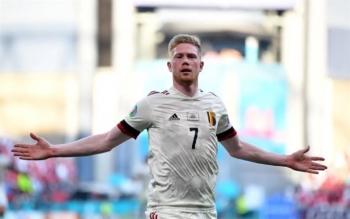 Kết quả EURO 2020: De Bruyne tỏa sáng, Bỉ chật vật thắng Đan Mạch