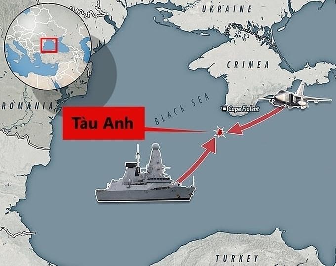 Anh tố Nga tung tin giả vụ tàu chiến bị bắn cảnh cáo
