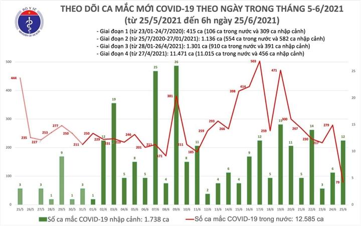 Sáng 25/6, Việt Nam có thêm 91 ca COVID-19 - 1