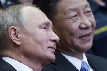 Hai lãnh đạo Putin - Tập Cận Bình bắt tay gửi thông điệp tới Tổng thống Biden