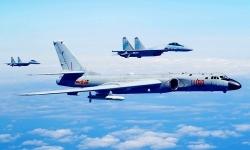 Máy bay, tàu chiến Trung Quốc diễn tập gần eo biển Đài Loan