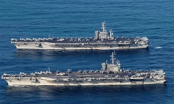 Hai tàu sân bay Mỹ diễn tập tại Biển Đông