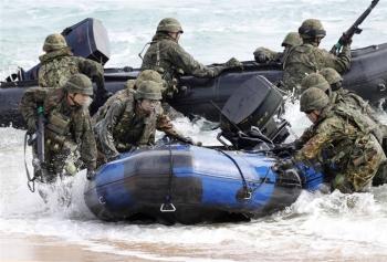 Mỹ - Nhật bí mật tập trận ở Hoa Đông