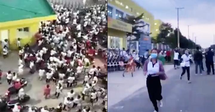 Hàng trăm công nhân phá rào tháo chạy khi đồng nghiệp dương tính SARS-CoV-2