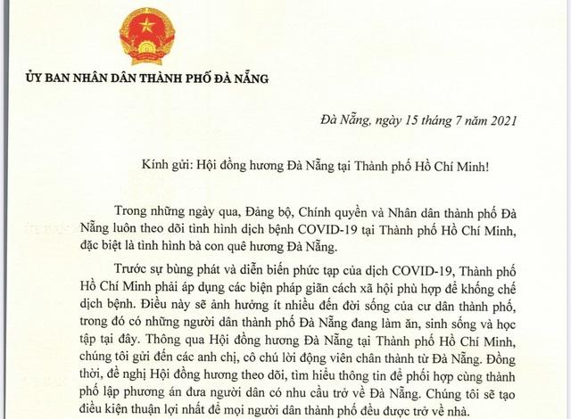 Đà Nẵng sẵn sàng đưa người dân ở TP HCM về quê