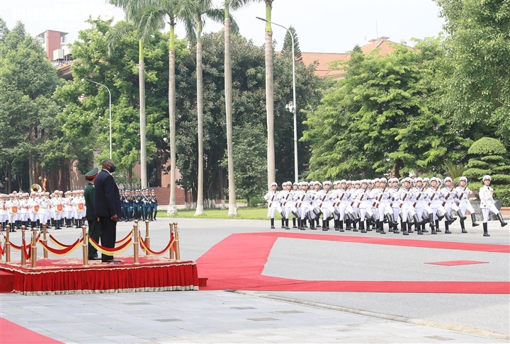 Bộ trưởng Quốc phòng Phan Văn Giang đón tiếp Bộ trưởng Quốc phòng Mỹ - 3