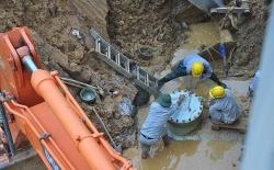 Đường ống nước sông Đà gặp sự cố, hàng triệu người Hà Nội lại mất nước