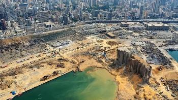 Vụ nổ cảng Beirut tạo hố sâu 43 mét