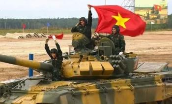 Đội tuyển xe tăng Việt Nam thi đấu xuất sắc lượt đầu