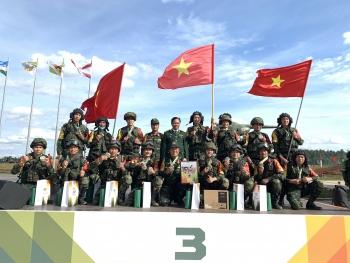Đội tuyển Công binh bảo vệ thành công Huy chương Đồng