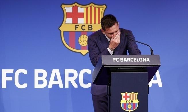 Trực tiếp: Messi khóc nức nở trong buổi họp báo chia tay Barca