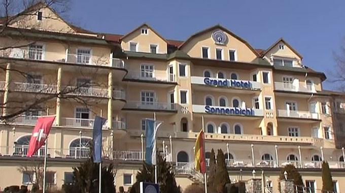 Khách sạn Grand Hotel Sonnenbichl ở thị trấn nghỉ mát Garmisch-Partenkirchen của Đức - nơi Vua Thái đang nghỉ dưỡng. Ảnh: Newsflash.