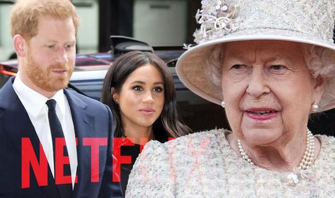 Nữ hoàng là người cuối cùng hay tin về thỏa thuận hợp tác của nhà Sussex với Netflix. Ảnh: Express.