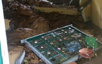 Lại sập tường trường mầm non ở Lào Cai