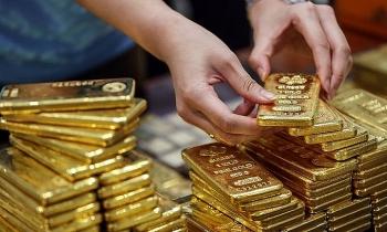 Giá vàng xuống thấp nhất một tháng