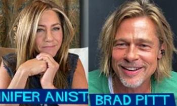 Brad Pitt và Jennifer Aniston đọc kịch bản cùng nhau