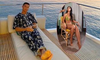 C. Ronaldo mặc kín mít, bạn gái sexy