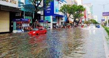 Bão số 5 đổ bộ, nhiều tuyến đường Đà Nẵng thành sông, cây ngã rạp