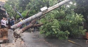 Vì sao nhiều cột điện gãy, đổ trong bão số 5?