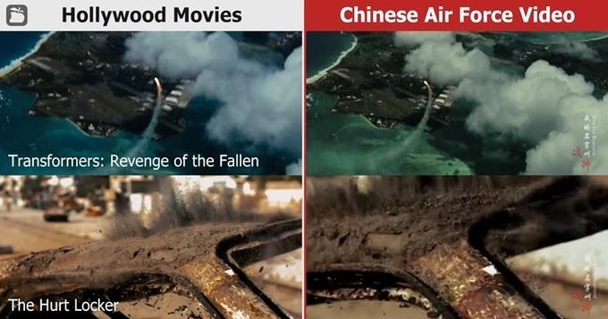 trung quoc bi nghi dung phim hollywood trong video mo phong tan cong