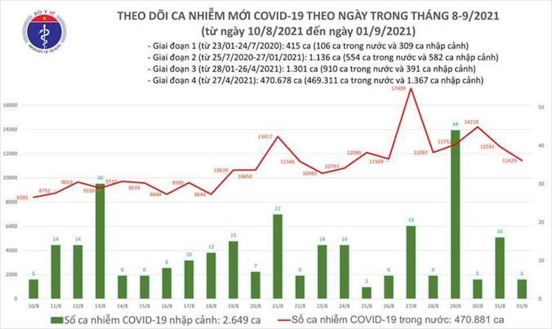 Thêm 11.434 ca COVID-19 mới, Bình Dương giảm hơn 1.000 ca - 1
