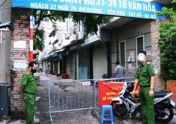Phong tỏa y tế tạm thời, lấy 700 mẫu xét nghiệm trong đêm tại phường Yên Phụ