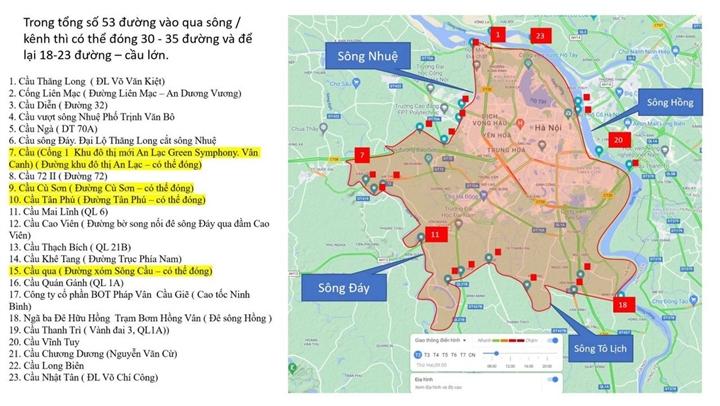 21 chốt loại 1 kiểm soát việc ra vào 'vùng đỏ' ở Hà Nội từ 4/9 - 1