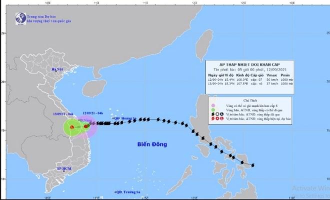 Bão số 5 suy yếu thành áp thấp nhiệt đới, tỉnh Quảng Bình đến Thanh Hóa mưa to - 1