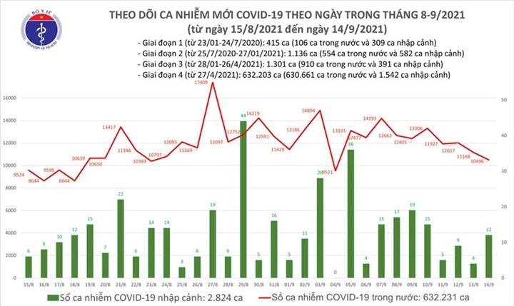 Ngày 14/9, Việt Nam thêm 10.508 ca COVID-19, TP.HCM tăng, Bình Dương giảm - 1