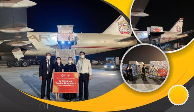 """Một triệu liều vaccine Hayat-Vax sản xuất tại UAE """"cập bến"""" sân bay quốc tế Nội Bài ảnh 1"""