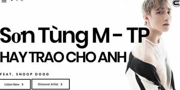 son tung m tp xuat hien tren website cua hang thu am my chuan bi my tien