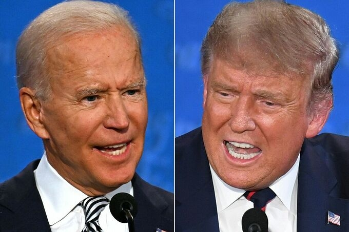 ngon ngu co the trump biden trong cuoc so gang
