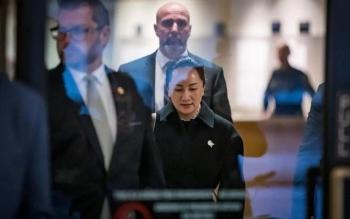Phiên điều trần mới nhất vụ án bà Mạnh Vãn Chu kết thúc không đưa ra được phán quyết