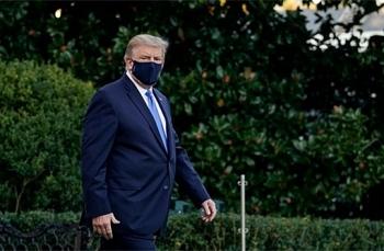 Tổng thống Trump xuất viện, về Nhà Trắng