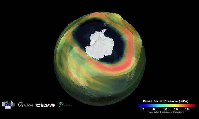lo thung ozone rong 24 trieu km2 o nam cuc