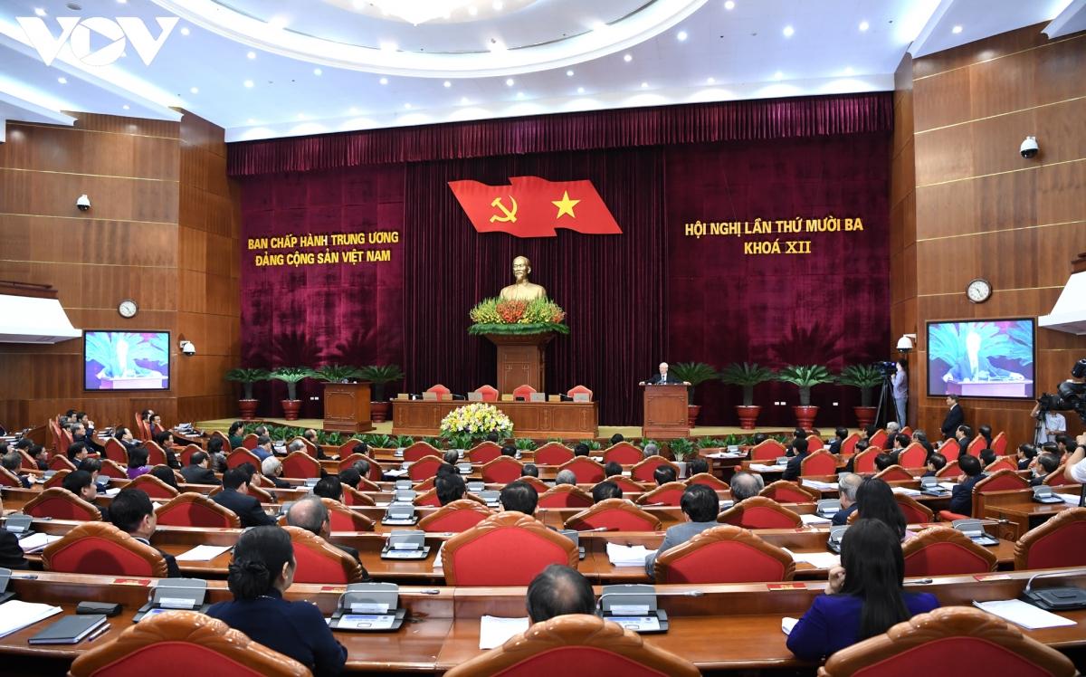 Hội nghị lần thứ 13 Ban Chấp hành Trung ương khóa XII. Ảnh: Ngọc Thành